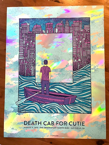 Image of Death Cab For Cutie 2019 - Rainbow Foil Variant Night 1