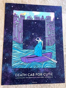 Image of Death Cab For Cutie 2019 - Rainbow Foil Variant Night 2