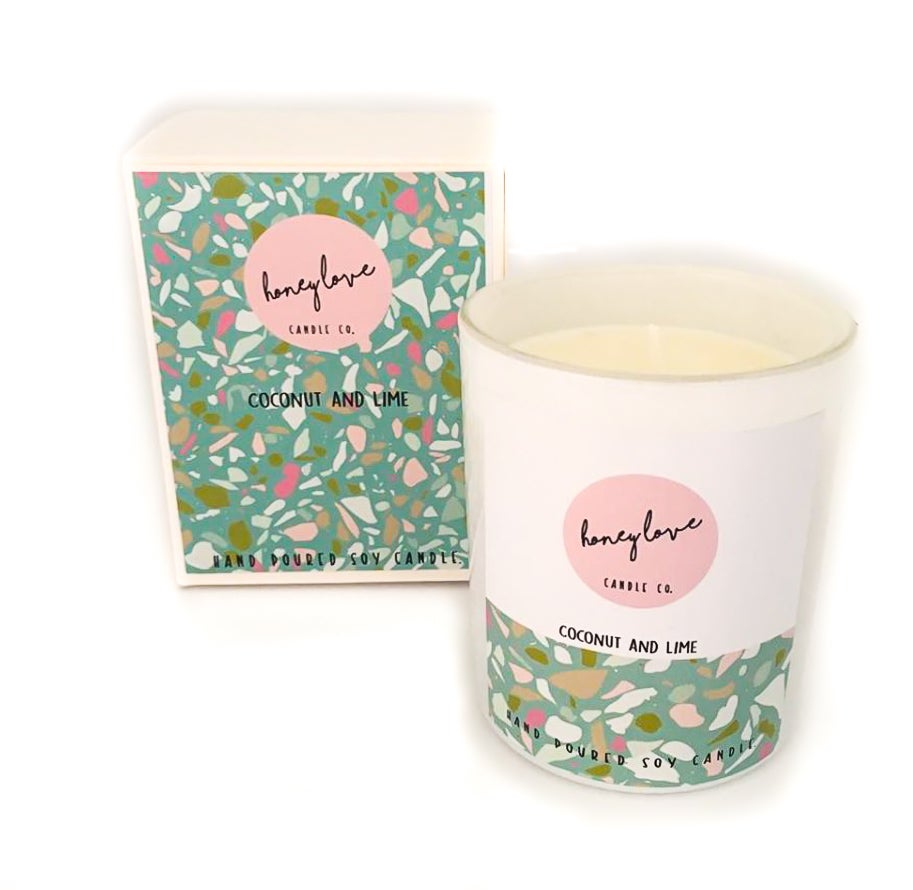 Image of Coconut and Lime Soy Candle