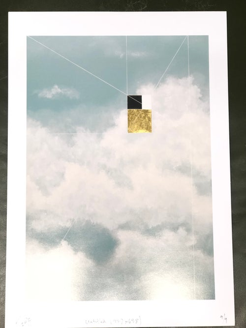 Image of Sky Print with Gold Leaf