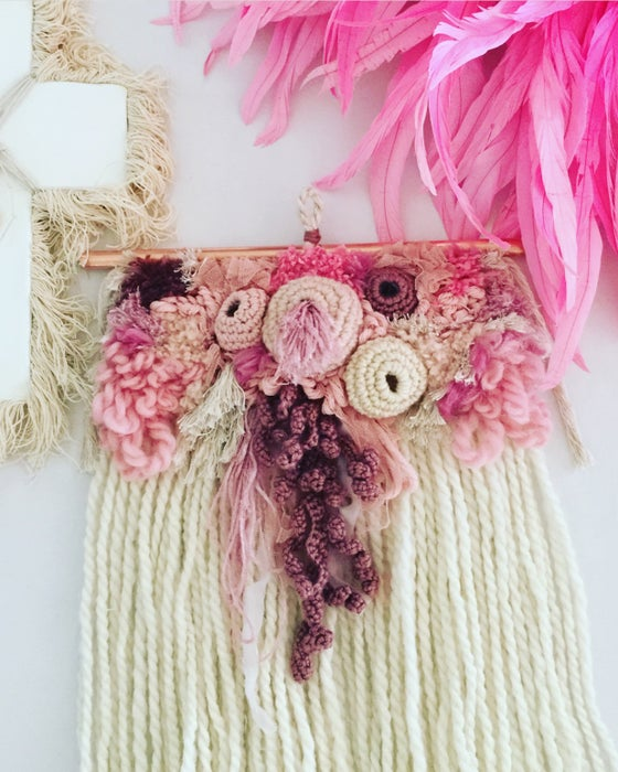Image of  Pink- Latchhook Wallhanging