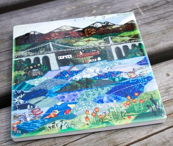 Image of Menai Strait ceramic Coaster