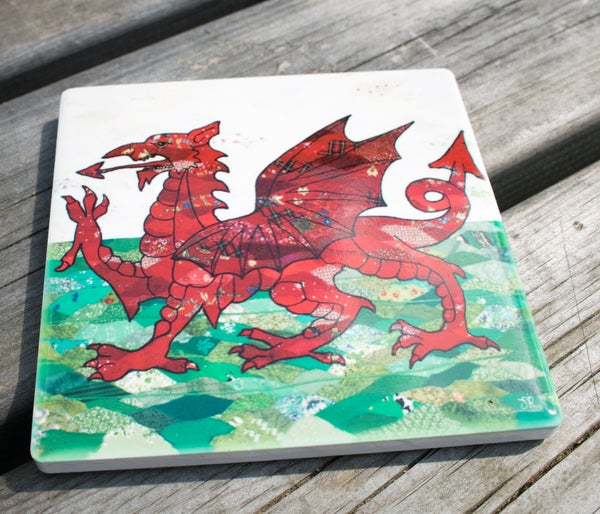 Image of Welsh Dragon Ceramic Coaster
