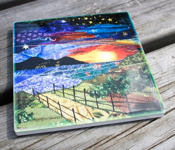 Image of Sunset ceramic Coaster