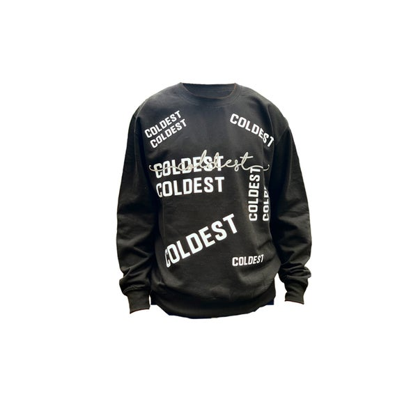 Image of MULTI PRINT & REFLECTIVE SCRIPT SWEATER