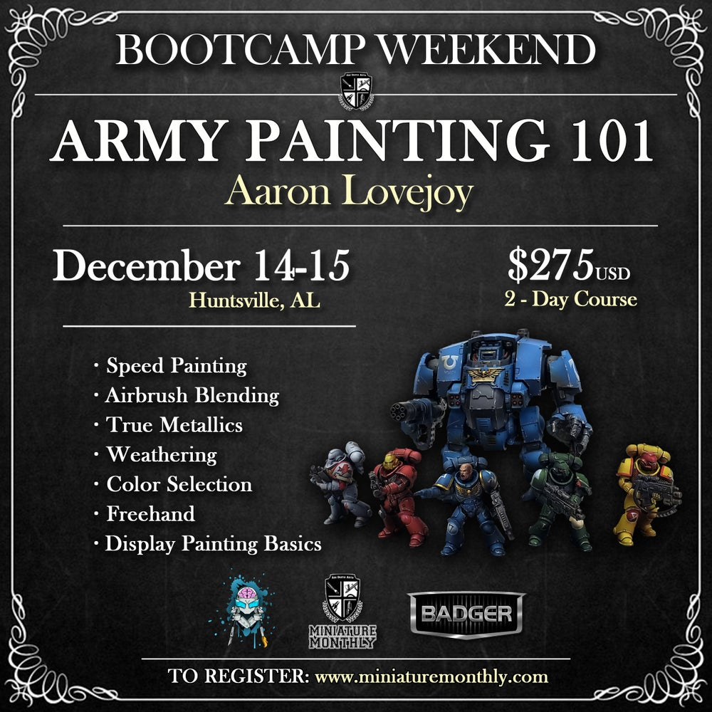 Image of Army Painting 101: Aaron Lovejoy - Huntsville, AL - December 14-15, 2019