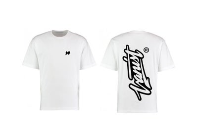 Image of Watch Your Back - White Signature Tee