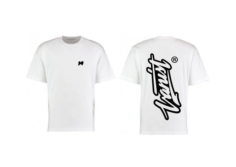 Image of White Signature T-Shirt [OVERSIZED FIT]