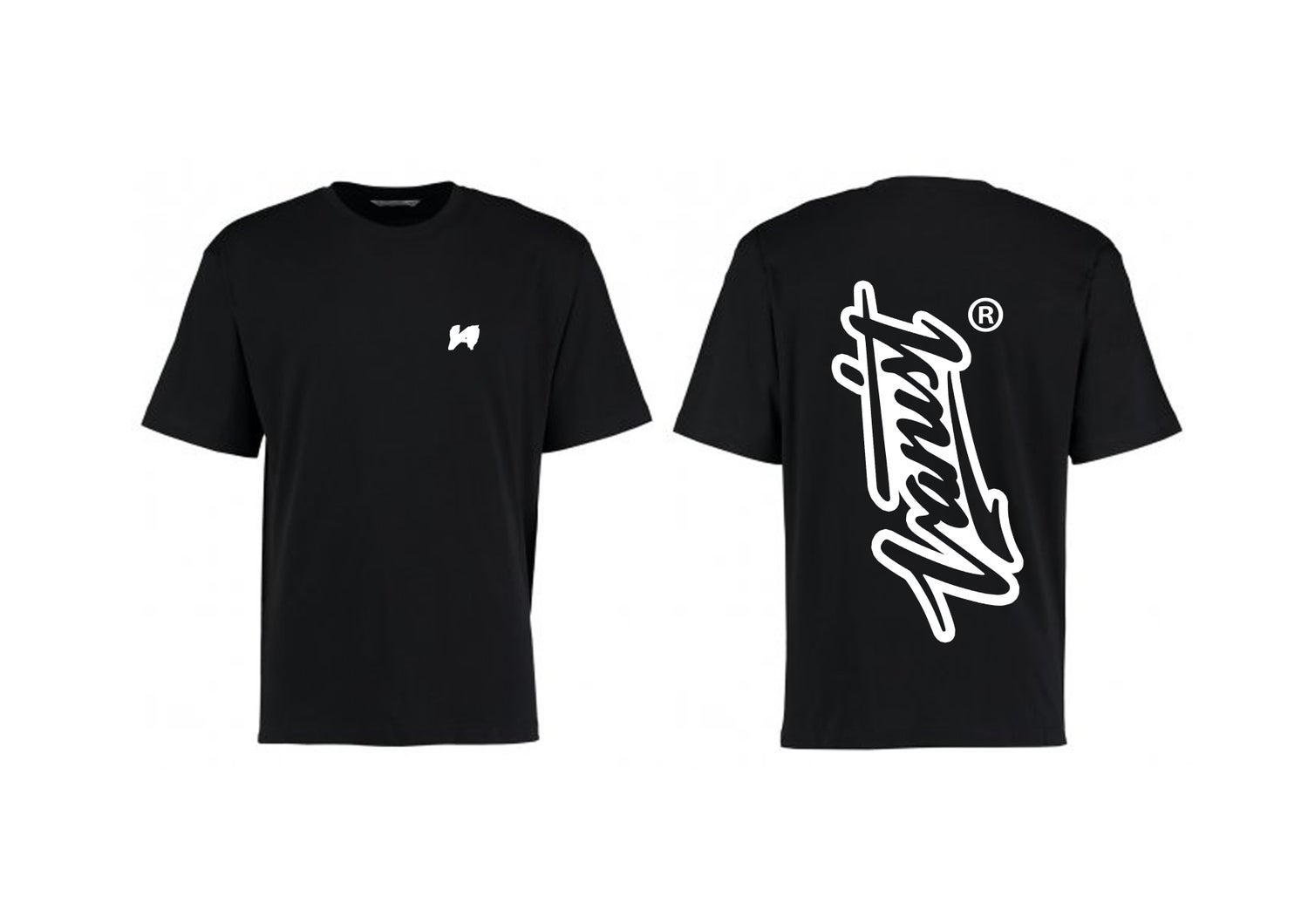 Image of Black Signature T-Shirt [OVERSIZED FIT]