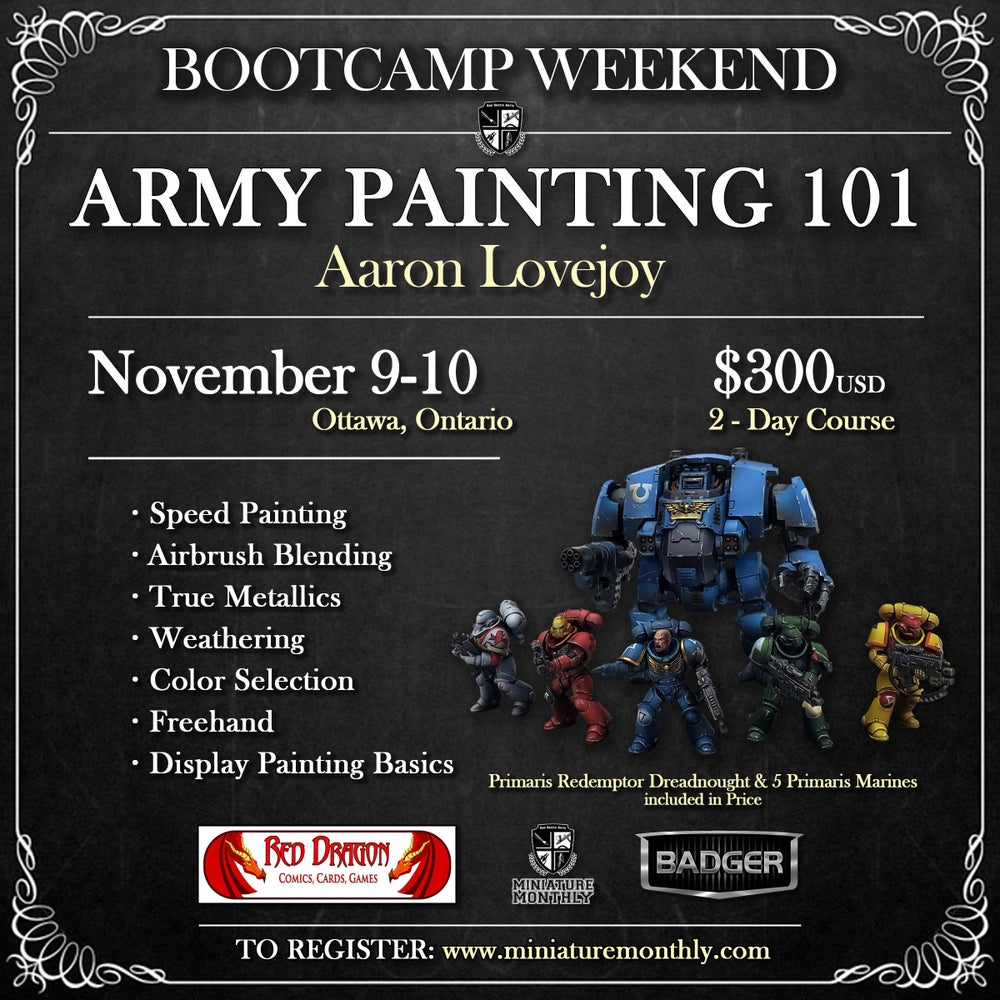 Image of Army Painting 101: Aaron Lovejoy - Ottawa, Ontario - November 9-10, 2019
