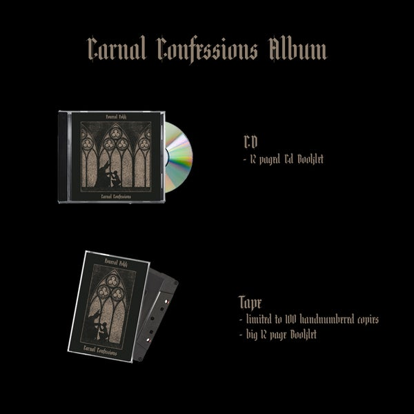 """Image of PREORDER: """"Carnal Confessions""""-Album CD/ Tape"""