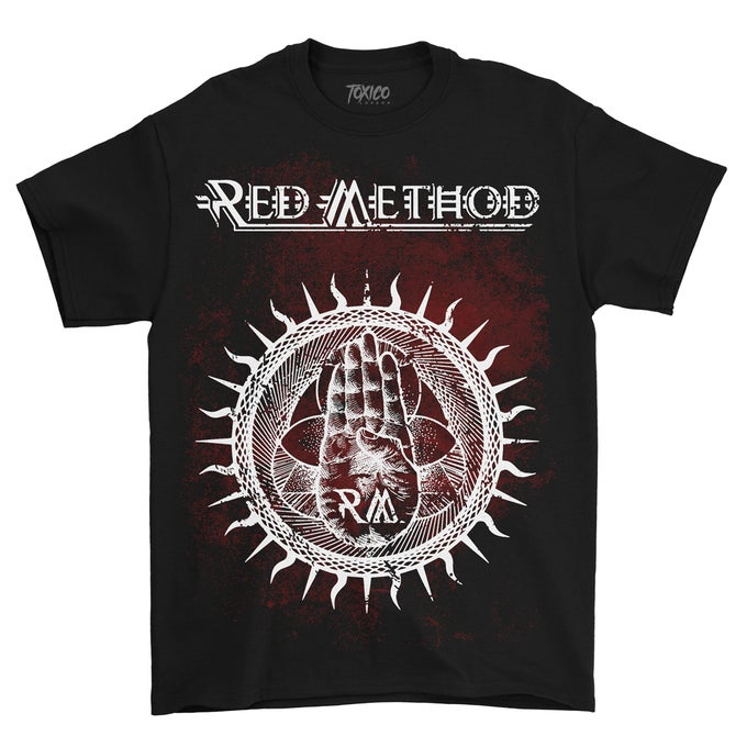 Image of Red Method New Logo Design Tshirt (Black)