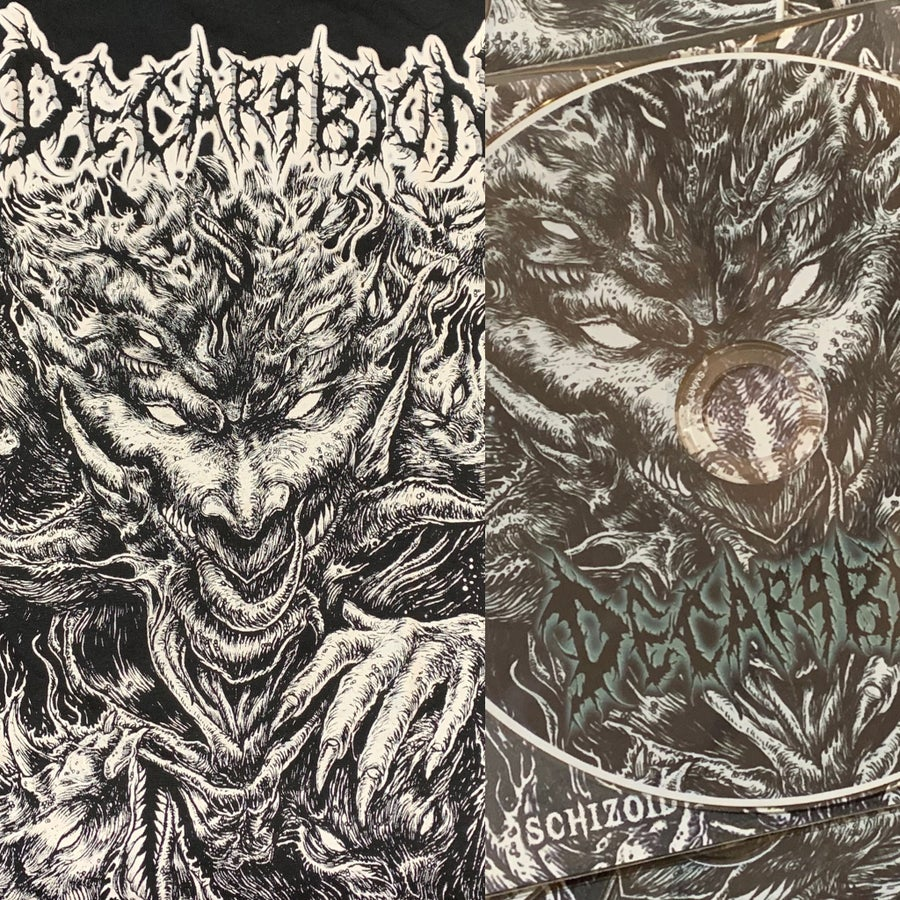 Image of OFFICIAL DECARABION - SCHIZOID PROLIFERATION OF INSANITY SHIRT AND [PROMO 2019]