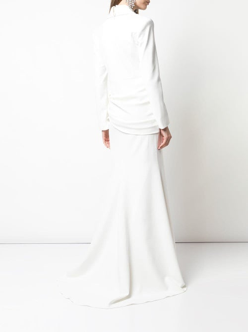 Image of Deep V-Neck Gown