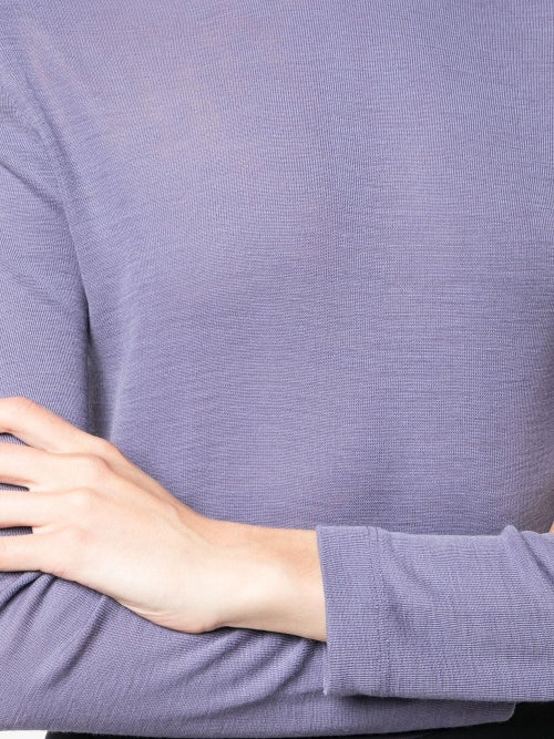Image of Purple Structured Shoulders Top