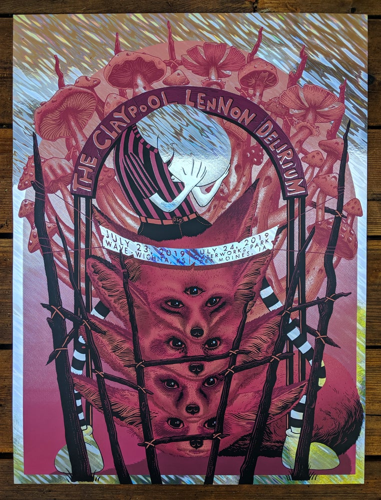 Image of Claypool Lennon Delirium in Wichita and Des Moines Poster - Foil Variant