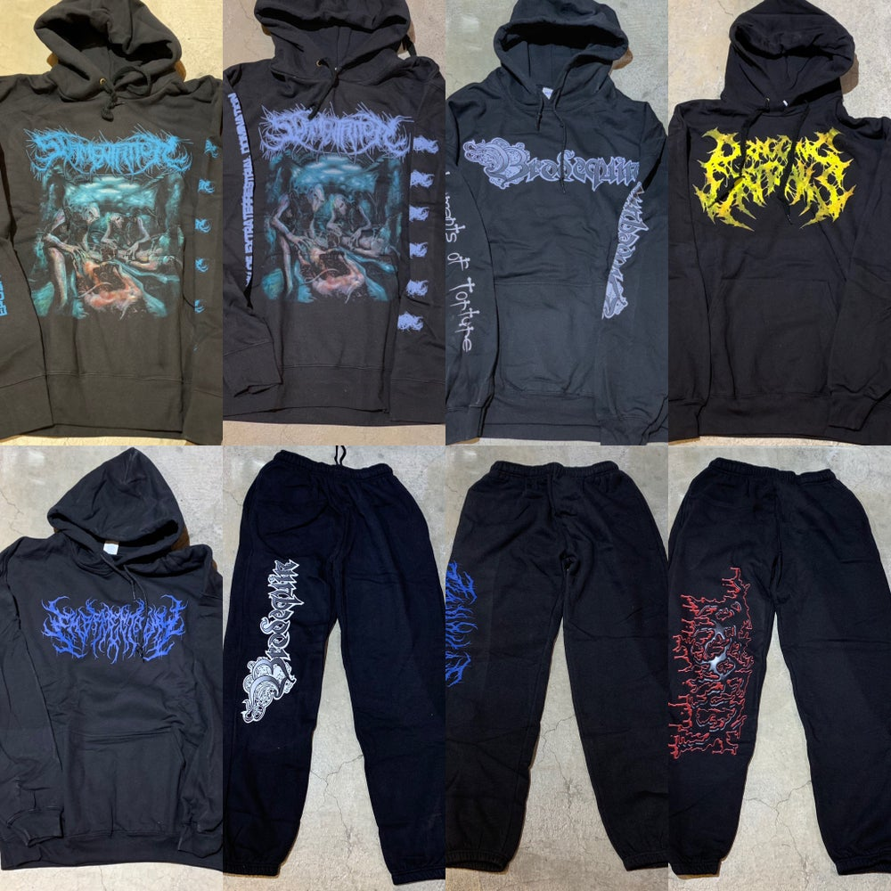 Image of Officially Licensed Embryectomy/Dragging Entrails/Slamentation/Brodequin/Torsofuck Hoodie/Sweatpants