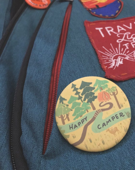 Image of Happy Camper Pinback Button