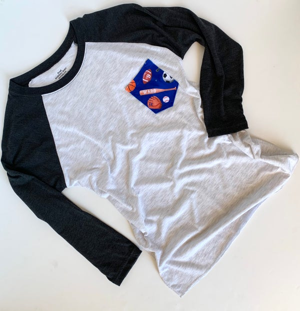 Image of Matching Adult Pocket Raglan/Tee Shirt