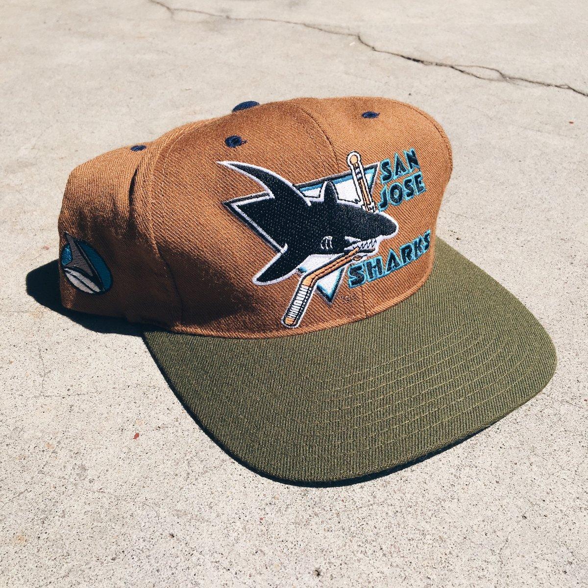 Image of Original 90's American Needle San Jose Sharks Snapback Hat.
