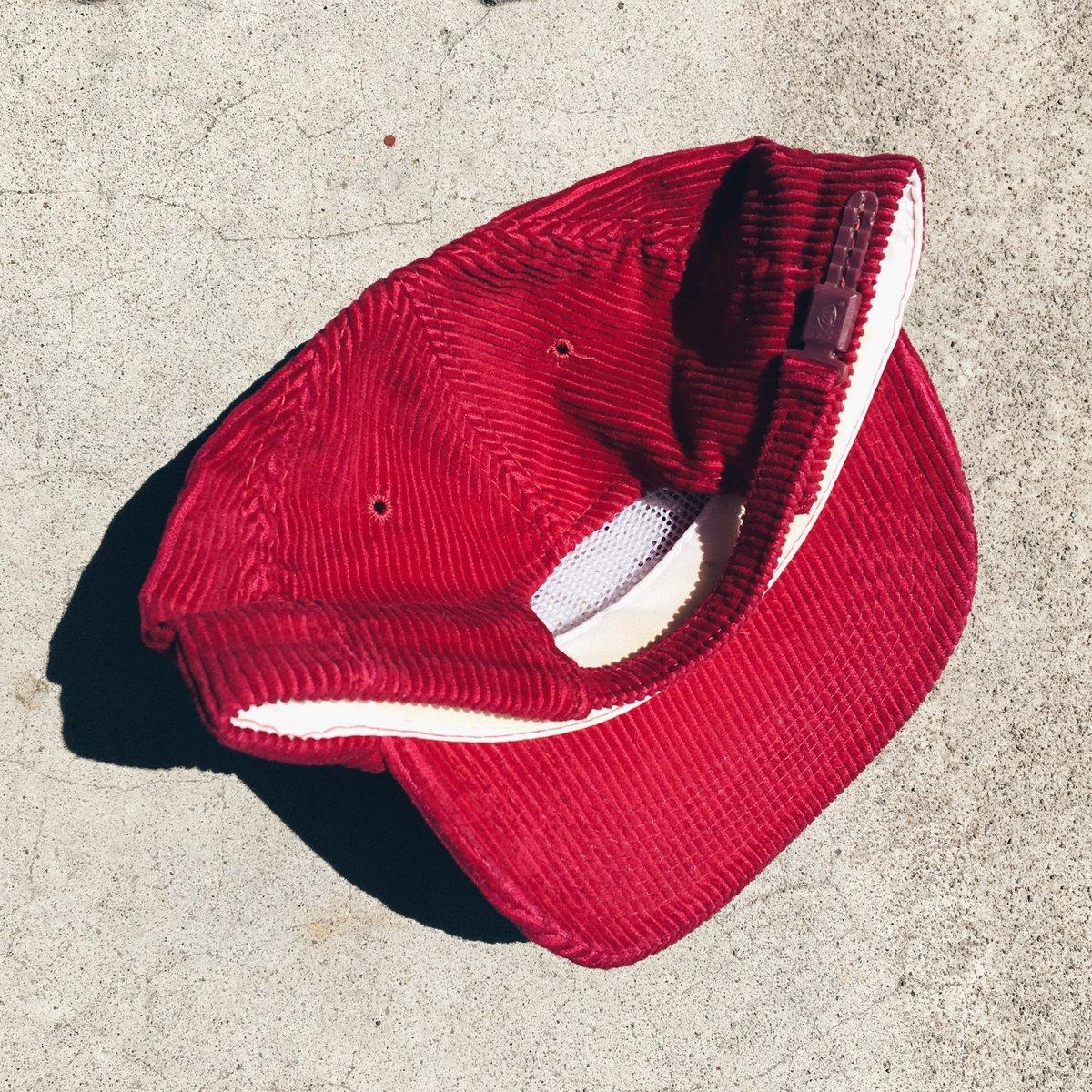 Image of Original 90's Sports Specialties Oklahoma Sooners Corduroy Zip-Back Hat.