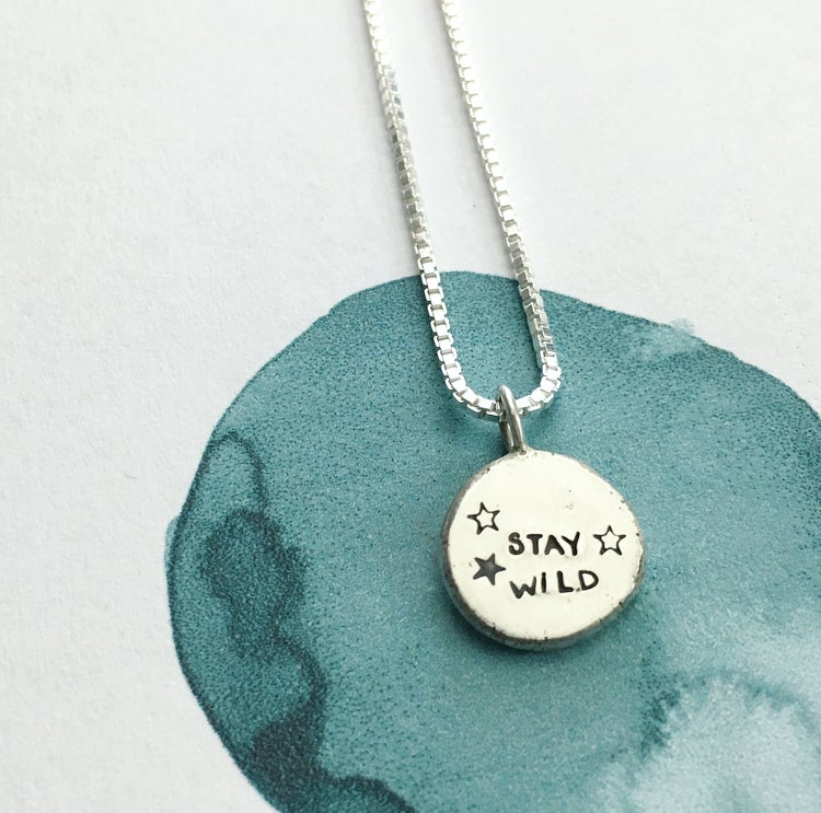 Image of moon phase necklace