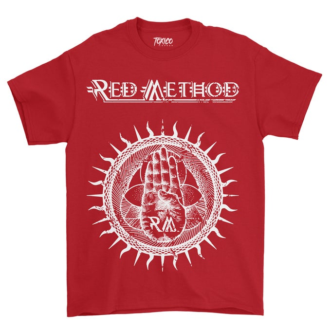 Image of Red Method New Logo Design T'shirt (Red Tshirts)
