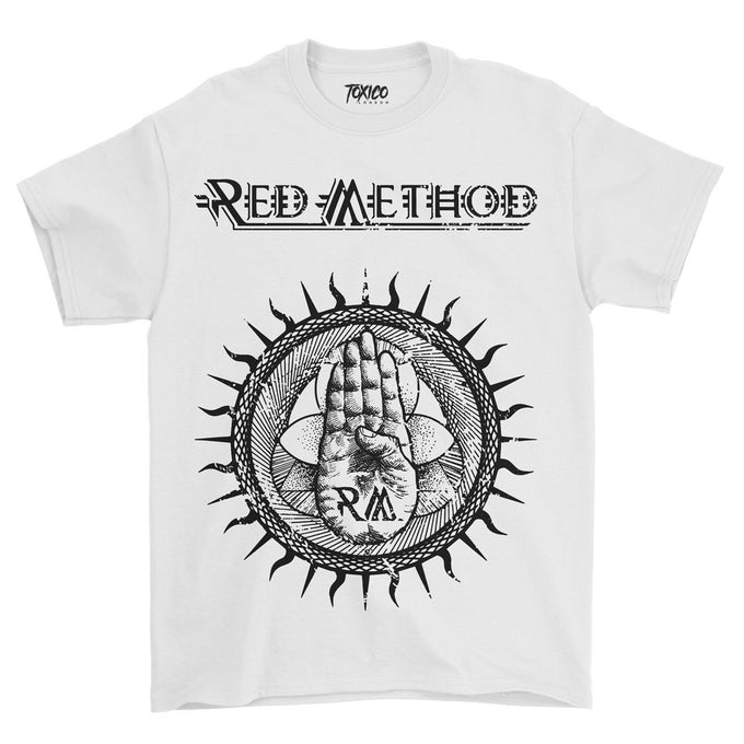 Image of Red Method New Logo Design T'shirts (White)