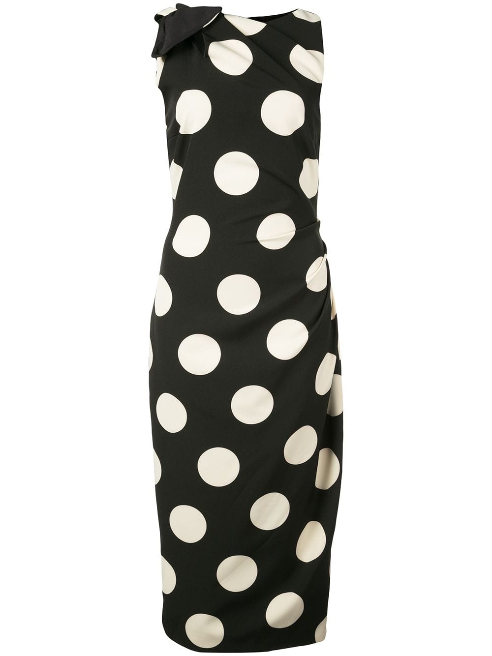 Image of Polka Dot Print Mid-Length Dress