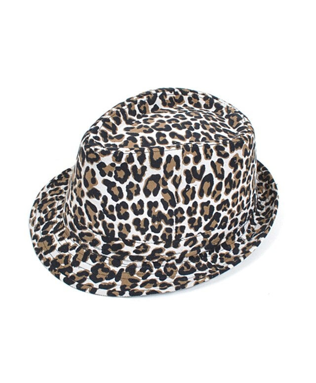 Animal Print Fedora Hat