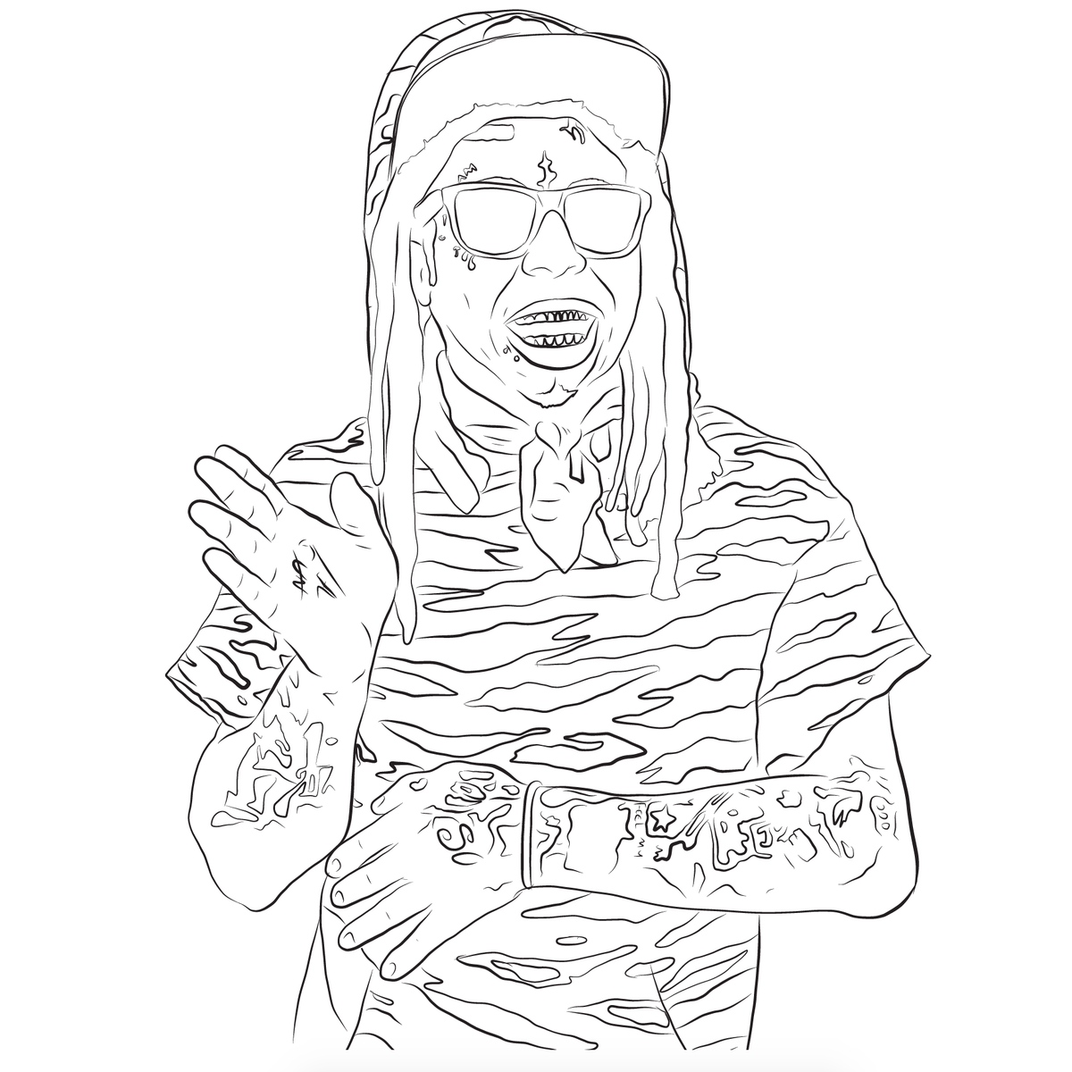 Image of COLOR GRADING HIP-HOP COLORING BOOK