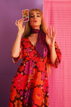 Image of Flutter by maxi in Come and get your love print In Magenta