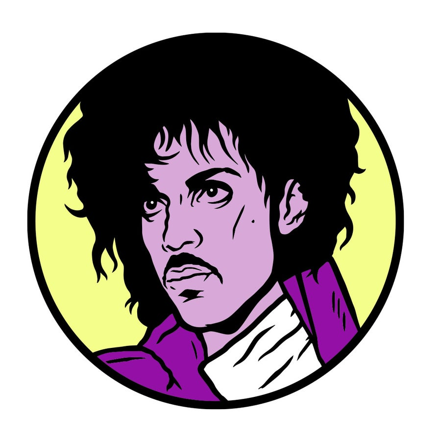 Image of Purple Rain Enamel Pin