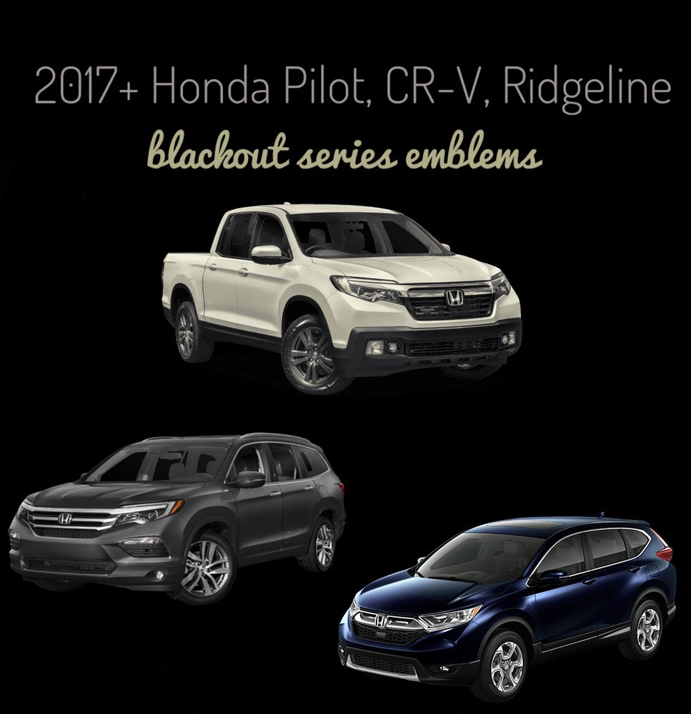 Image of 2016-2019 Honda Ridgeline / PILOT / CRV BLACKOUT Series Emblems