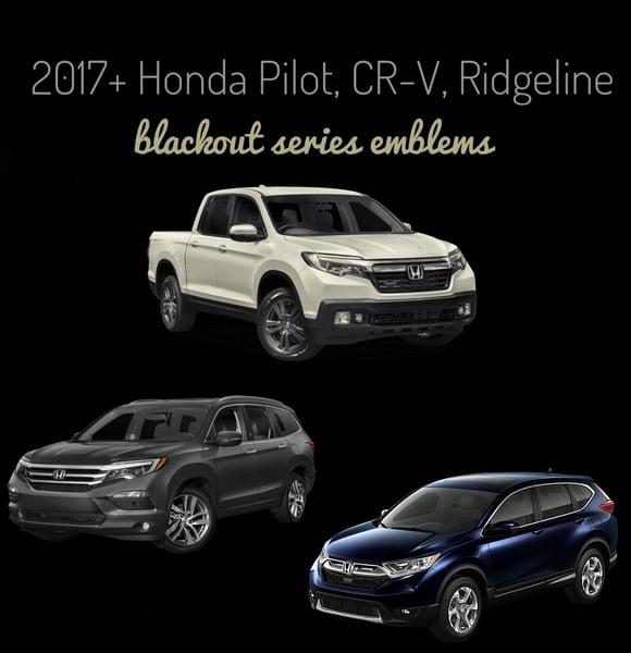 Image of 2016-2019 Honda Ridgeline / PILOT / CRV BLACKOUT Series Emblems
