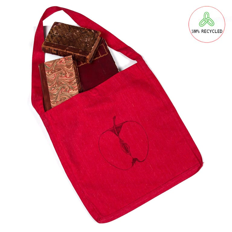 Image of VajApple Red Tote Bag (Recycled)