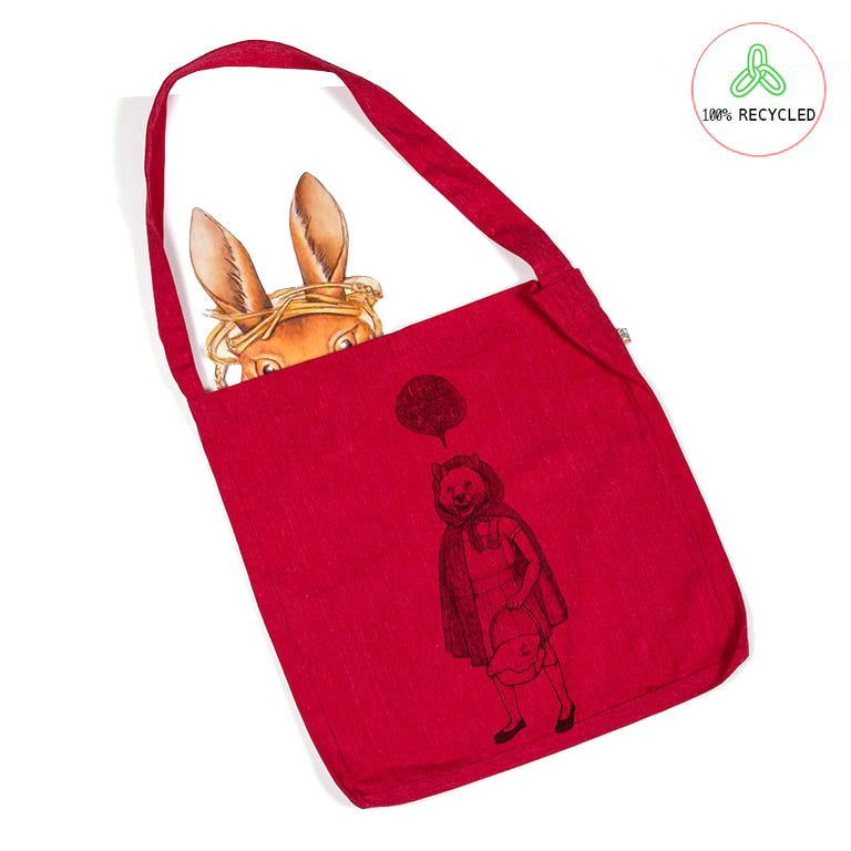 Image of RedHood Red Tote Bag (Recycled)