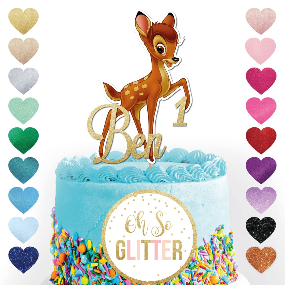 Image of Custom Bambi Cake Topper
