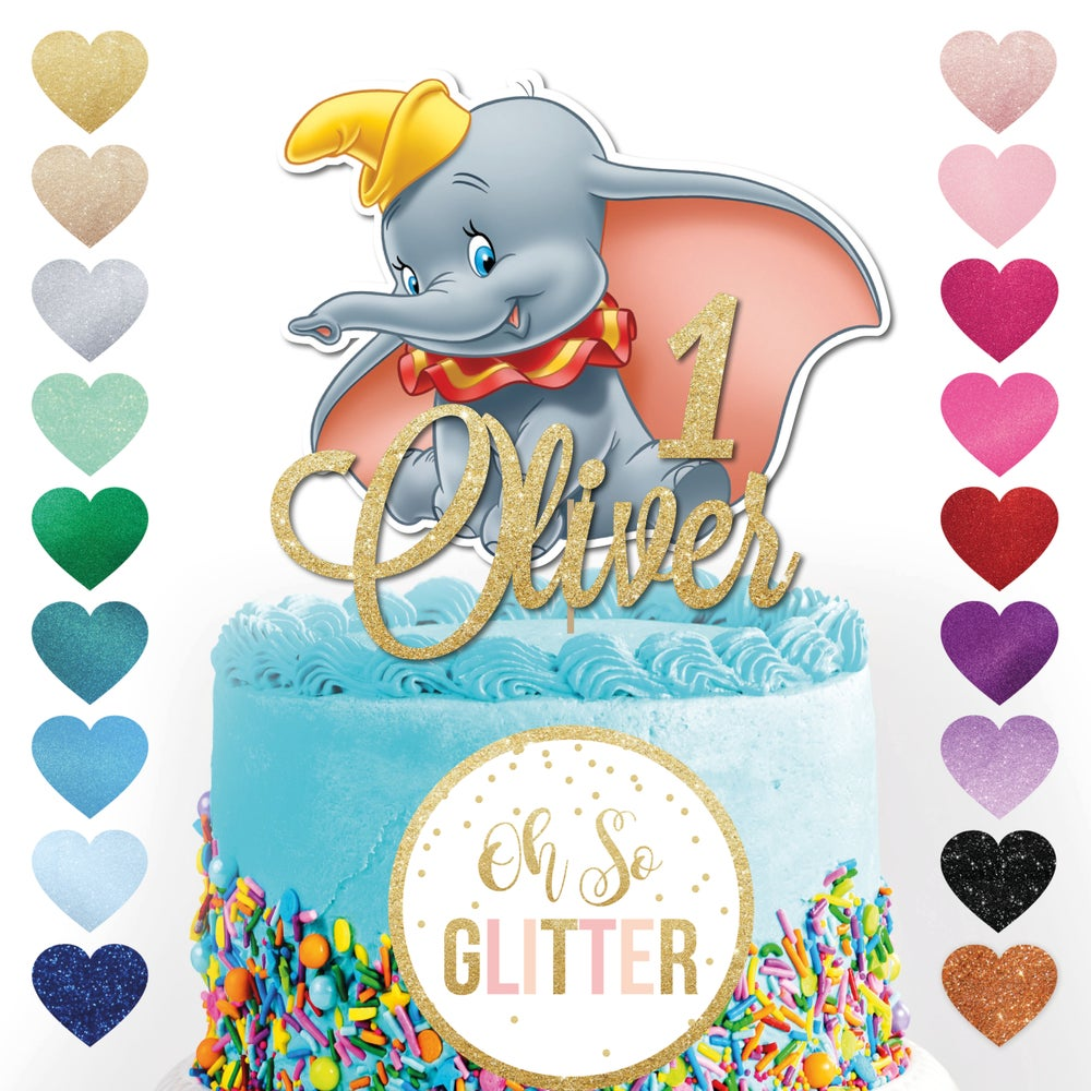 Image of Custom Dumbo Cake Topper