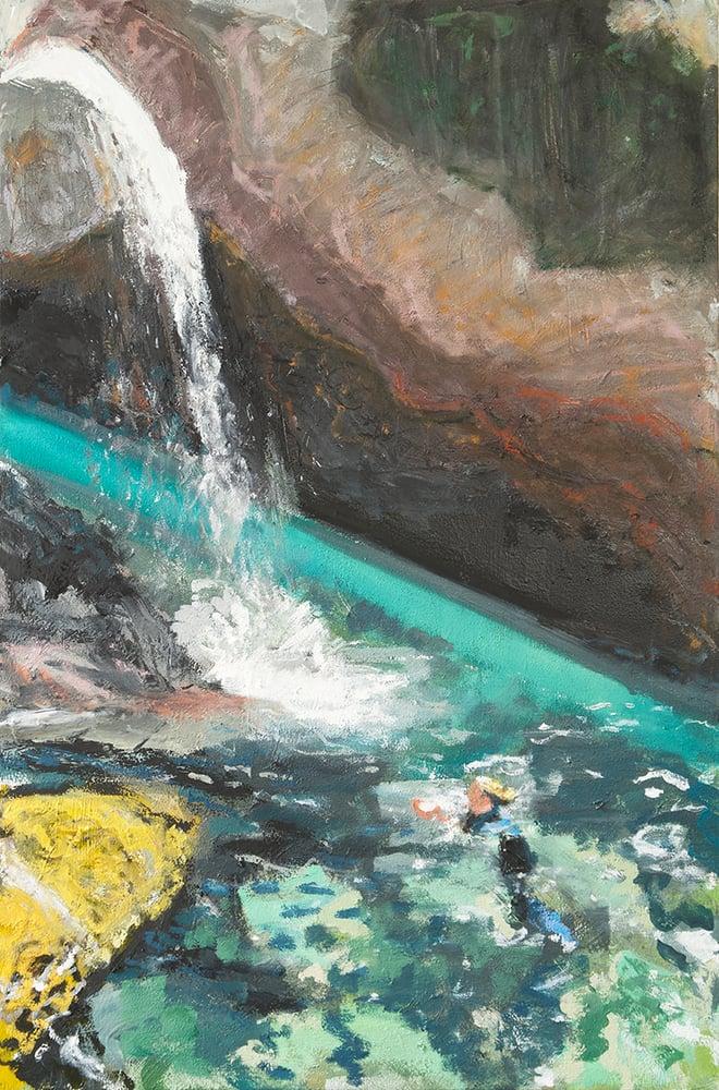 Image of Wild Swim (Fairy Pools, Skye) (Original Painting)