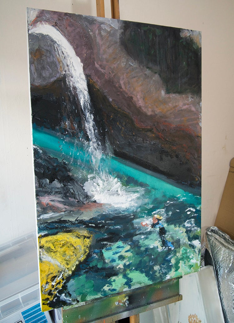 Image of Wild Swim (Fairy Pools, Skye) (Original Painting)