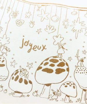 Joyeux Envelope in Gold