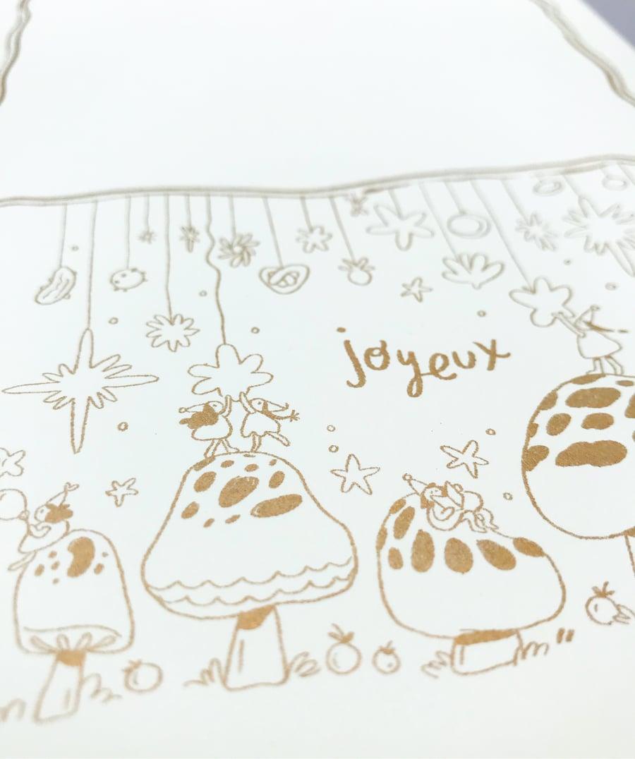 Image of Joyeux Envelope in Gold