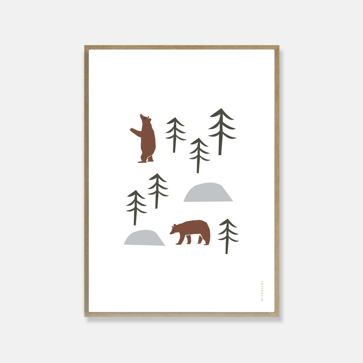 Image of Brown Bear Print