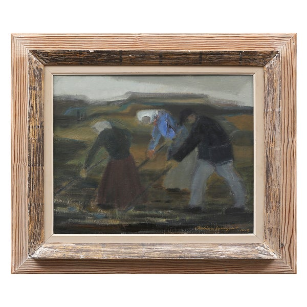 Image of 1952 Painting, 'Reapers,' Fabian Lundqvist