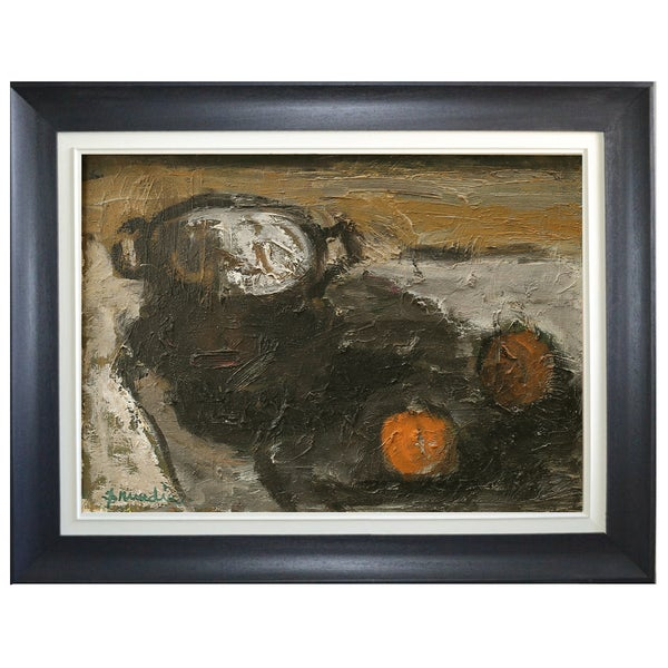 Image of Mid-century, Still life Painting, 'Oranges,' Hanna Brundin