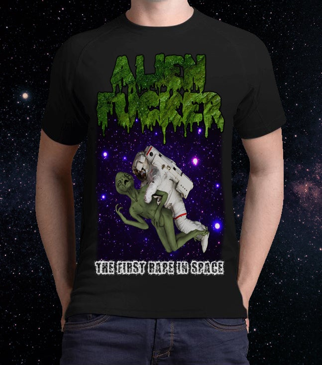 """Image of 2 Sides Print - Men  - """"The First Rape In Space"""" T-Shirt"""
