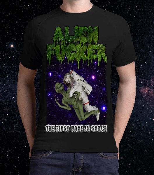 "Image of 2 Sides Print - Men  - ""The First Rape In Space"" T-Shirt"