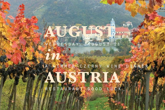 Image of august in austria: a wimmer-czerny wine dinner