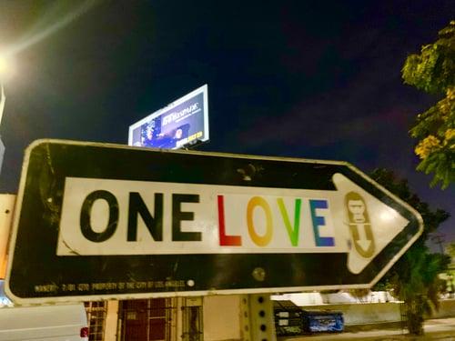 Image of One Love DIY Street Art Sticker